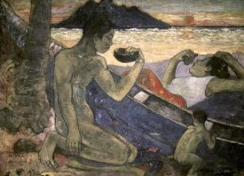 Paul Gauguin - The Canoe, a Tahitian Family