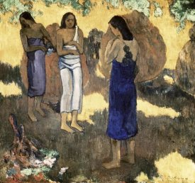 Paul Gauguin - Women Standing Against A Yellow Background Femmes Debout Sur Fond Jaune