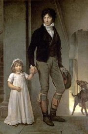 Francois Pascal Simon Gerard - Portrait of J.B. Isabey and His Daughter