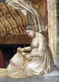 Giotto - Birth of The Virgin - Detail