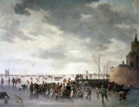 Jan Van Goyen - Scene On The Ice Near Dordecht