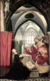 Mathias Grunewald - Isenheim Altarpiece: Annunciation