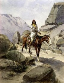 Herman Wendelborg Hansen - Indian On Horseback