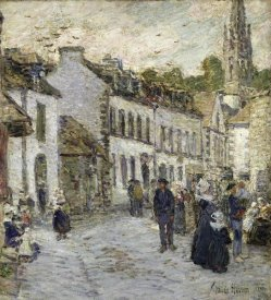 Childe Hassam - Street In Pont Aven In Evening