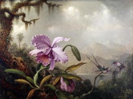 Martin Johnson Heade - Hummingbirds and Orchids