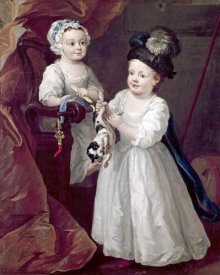 William Hogarth - Lord Grey & Lady Mary West As Children