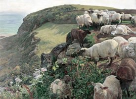 William Holman Hunt - Our English Coasts (Strayed Sheep)