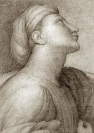 Jean Auguste Dominique Ingres - Profile of a Face in the style of Raphael