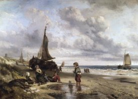 Jan Mari ten Kate - Children Playing By The Ocean