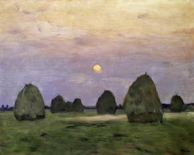 Isaak Levitan - Dawn/Dusk - Bundle of Hay
