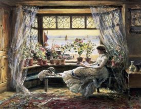 Charles James Lewis - Reading by the Window, Hastings