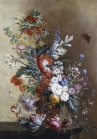 Jacobus Linthorst - Roses, Carnations, Crown Imperial Lily and Convolvulus