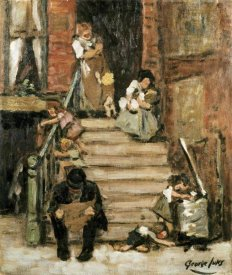 George Benjamin Luks - On The Steps
