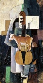 Kazimir Malevich - Cow and Violin, 1913