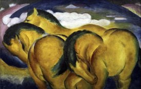 Franz Marc - Little Yellow Horses