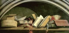 Master of The Aix Annunciation - Still Life: Shelf With Books
