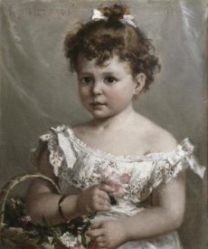 Paul Merwart - Helene Loeb Lyon As a Young Girl