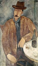 Amedeo Modigliani - Man With a Wine Glass