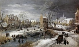 Joos de Momper the younger - A Village In Winter