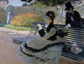Claude Monet - Camille Monet on a Garden Bench