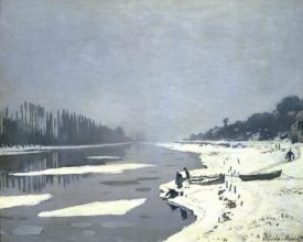 Claude Monet - Ice Floes on the Seine at Bougival, 1868