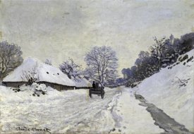 Claude Monet - Snow-Covered Road at Honfleur