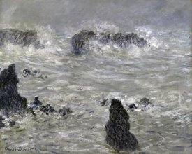 Claude Monet - Storm Off the Coast of Belle Isle