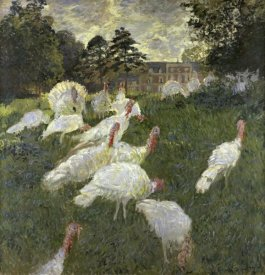 Claude Monet - The Turkeys at the Chateau de Rottembourg, Montgeron