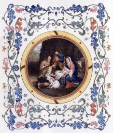 Bartolome Esteban Murillo - Nativity With Illuminated Border