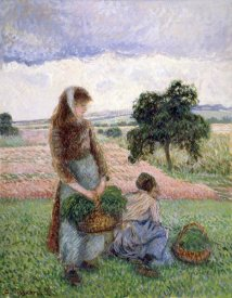 Camille Pissarro - Peasants Carrying a Basket