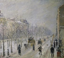 Camille Pissarro - The Effect of Snow on the Boulevard's Appearance