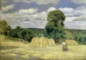 Camille Pissarro - The Harvest at Montfoucault
