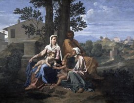 Nicolas Poussin - Holy Family In a Landscape