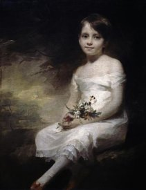 Henry Raeburn - Young Girl With Flowers