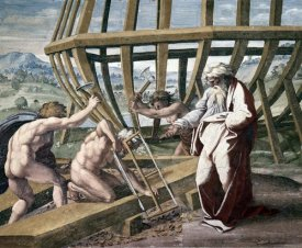 Raphael - Noah Building The Ark