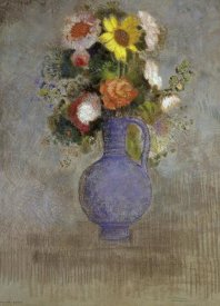 Odilon Redon - Bouquet in a Blue Vase