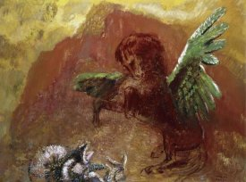 Odilon Redon - Pegasus and Hydra