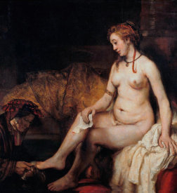 Rembrandt Van Rijn - Bathsheba at Her Bath
