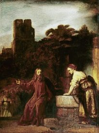 Rembrandt Van Rijn - Christ and The Woman of Samaria