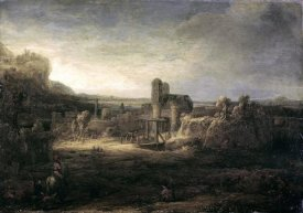 Rembrandt Van Rijn - Landscape with a Church