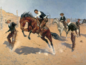 Frederic Remington - Turn Him Loose, Bill