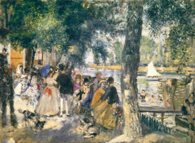 Pierre-Auguste Renoir - La Grenouilliere - Bathers In The Seine