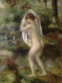 Pierre-Auguste Renoir - Young Girl Undressing To Bathe In The Forest