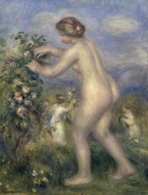 Pierre-Auguste Renoir - Young Nude Girl Picking Flowers