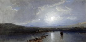 William Trost Richards - Moonlit River