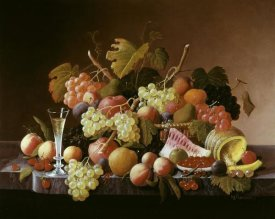 Severin Roesen - Tabletop Still Life