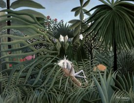 Henri Rousseau - Attack of The Jaguar