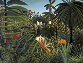 Henri Rousseau - Jaguar Attacking a Horse