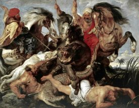 Peter Paul Rubens - Hippo Hunt