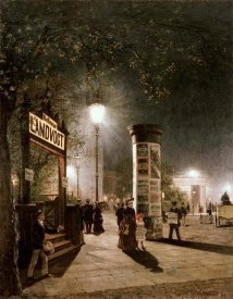 Carl Saltzmann - First Electric Street Light, Berlin